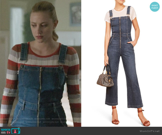Reformation Jenny Jumpsuit worn by Betty Cooper (Lili Reinhart) on Riverdale