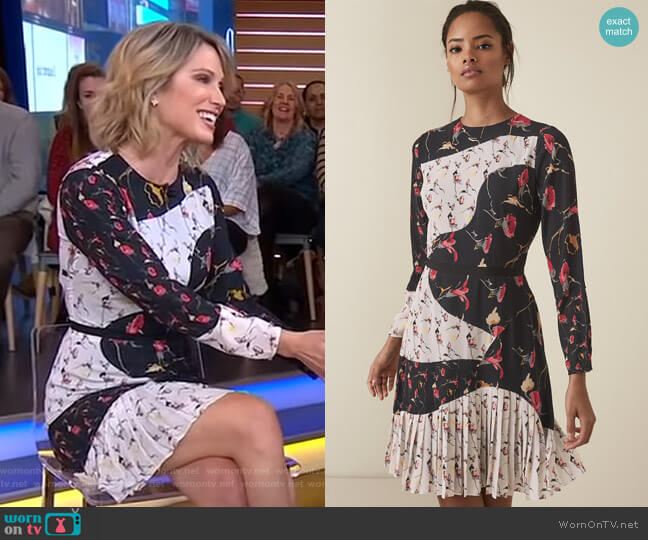 Mara Dress by Reiss worn by Amy Robach  on Good Morning America