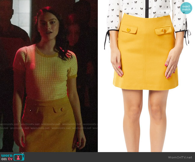 Review Collette Mini Skirt worn by Veronica Lodge (Camila Mendes) on Riverdale