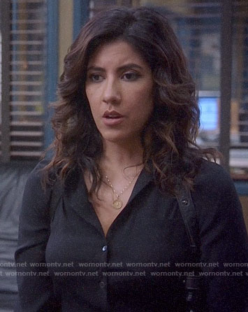 Rosa's black button down on Brooklyn Nine-Nine