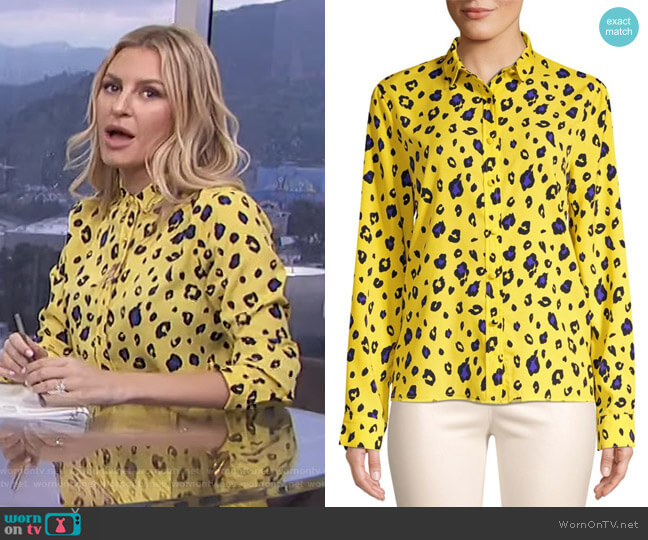 Blythe Leopard Print Button Down by RtA worn by Morgan Stewart  on E! News
