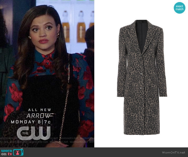 RtA Jamson Feline Mocha Coat  worn by Maggie Vera (Sarah Jeffery) on Charmed