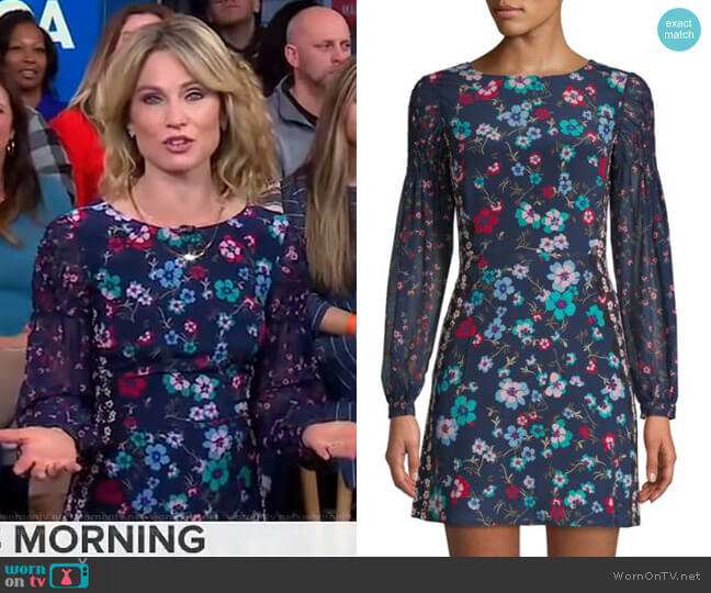 Isla Mini Dress by Saloni worn by Amy Robach  on Good Morning America
