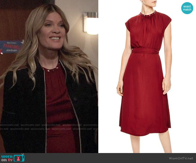 Sandro Conique Dress worn by Nina Reeves (Michelle Stafford) on General Hospital
