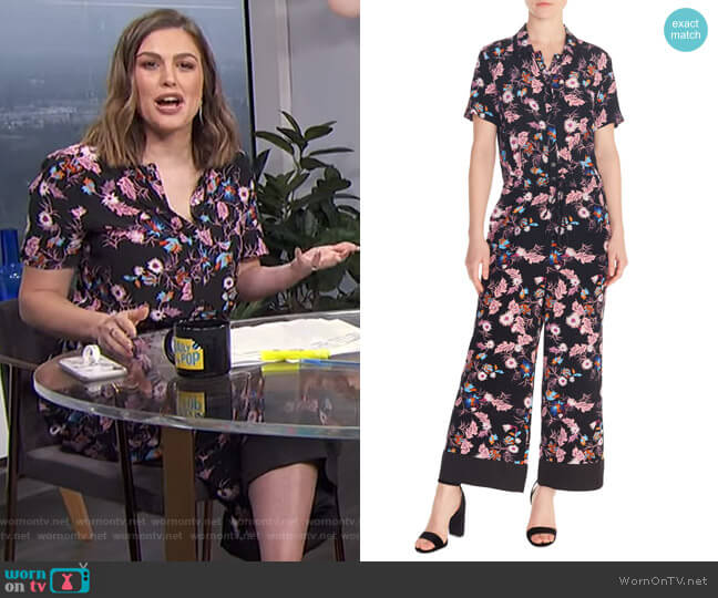 Olivier Jumpsuit by Sandro worn by Carissa Loethen Culiner  on E! News