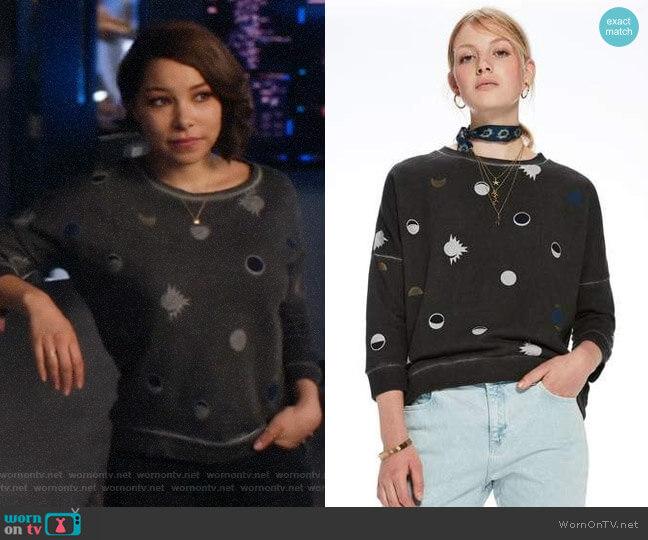Scotch & Soda Printed Sweatshirt worn by Nora West-Allen (Jessica Parker Kennedy) on The Flash