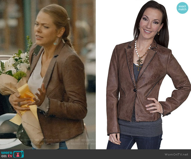 Scully L173 Leather Jacket worn by Isobel Evans-Bracken (Lily Cowles) on Roswell New Mexico