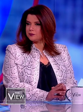 Ana's snake skin print jacket on The View