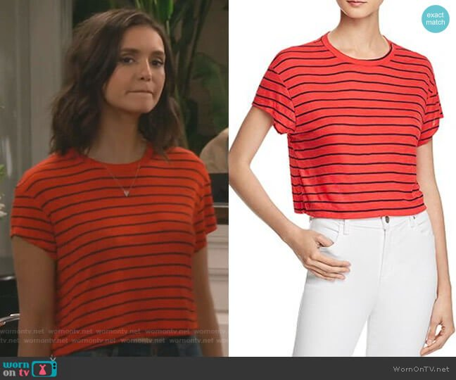 Striped Cropped Tee by Splendid worn by Clem (Nina Dobrev) on Fam
