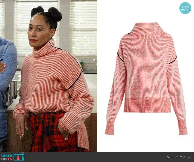 Sportmax Lipari Sweater worn by Rainbow Johnson (Tracee Ellis Ross) on Blackish