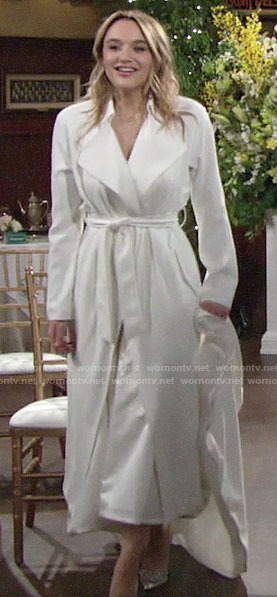Summer's bridal coat on The Young and the Restless