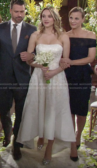 Summer's wedding dress on The Young and the Restless