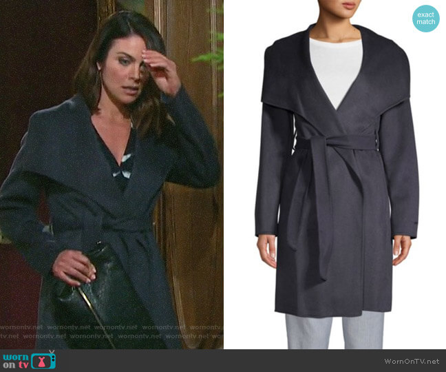 T Tahari Ellie Coat worn by Chloe Lane (Nadia Bjorlin) on Days of our Lives