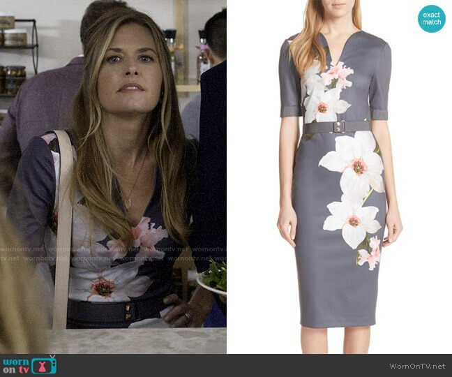 Ted Baker Bisslee Chatsworth Sheath Dress worn by Christa on Santa Clarita Diet