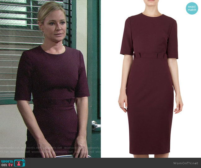 Ted Baker Maggidd Dress worn by Sharon Collins (Sharon Case) on The Young & the Restless