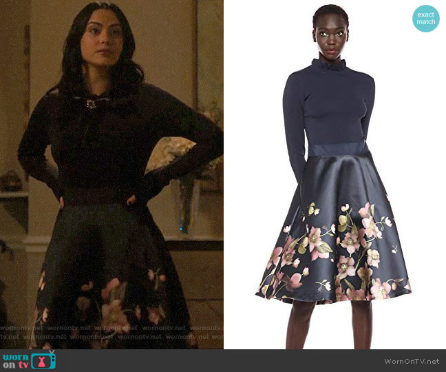 Ted Baker Seema Dress worn by Veronica Lodge (Camila Mendes) on Riverdale