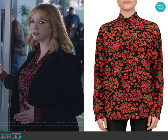 Camellia Blouse by The Kooples worn by Beth Boland (Christina Hendricks) on Good Girls