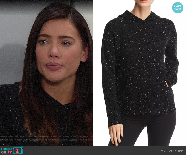 Theory Donegal Cashmere Hoodie worn by Steffy Forrester (Jacqueline MacInnes Wood) on The Bold & the Beautiful