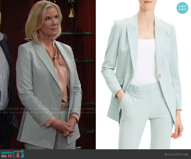 Theory Etienette B Suit Jacket worn by Brooke Logan (Katherine Kelly Lang) on The Bold & the Beautiful