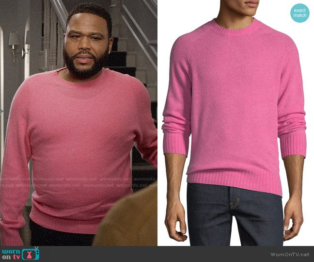 Tom Ford Super-Soft Wool-Blend Crewneck Sweater worn by Andre Johnson (Anthony Anderson) on Blackish