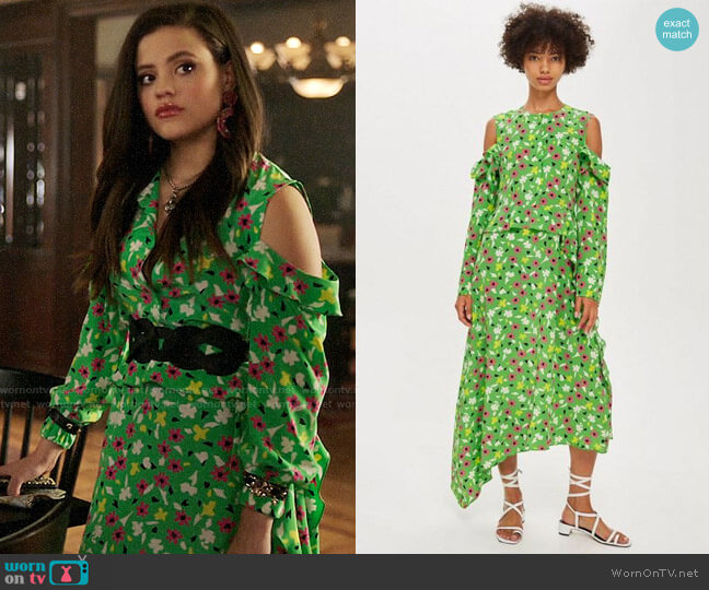Topshop Boutique Waterfall Dress worn by Maggie Vera (Sarah Jeffery) on Charmed