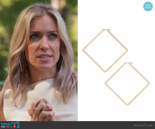 Uncommon James Girl Boss Square Hoop Earrings worn by Kristin Cavallari (Kristin Cavallari) on Very Cavallari