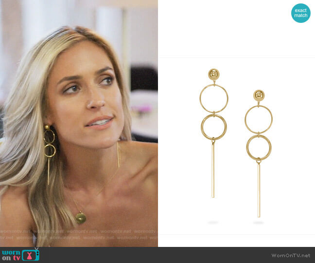 Uncommon James Baller Earrings worn by Kristin Cavallari  on Very Cavallari