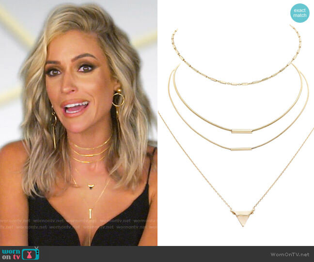 Uncommon James Better On You, Tennessee and Blush Necklaces worn by Kristin Cavallari  on Very Cavallari
