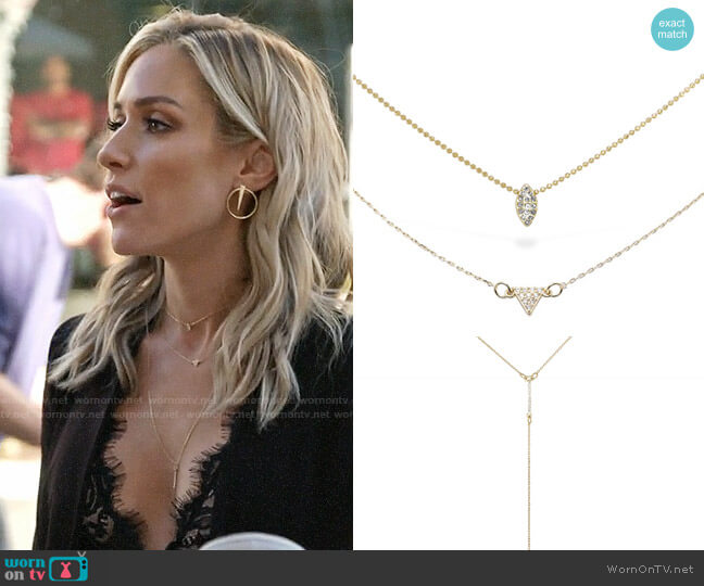 Uncommon James Just a Touch, Gulch and Skinny Dip necklaces worn by Kristin Cavallari  on Very Cavallari