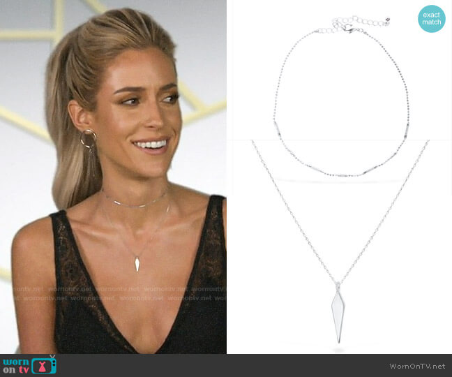 Uncommon James Ready to Mingle and To the Point Necklaces worn by Kristin Cavallari  on Very Cavallari