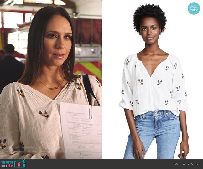 Selma Blouse by Velvet worn by Maddie Kendall (Jennifer Love Hewitt) on 9-1-1