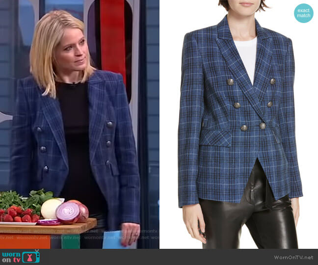 Miller Dickey Jacket by Veronica Beard worn by Sara Haines  on Good Morning America
