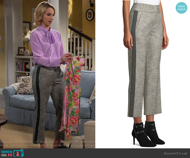 Veronica Beard Cormac Trousers worn by Mandy Baxter (Molly McCook) on Last Man Standing