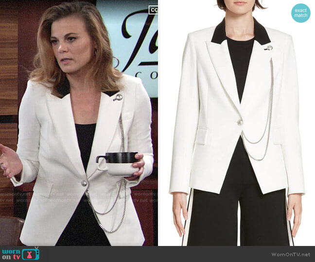 Veronica Beard Fergus Jacket worn by Phyllis Newman (Gina Tognoni) on The Young & the Restless