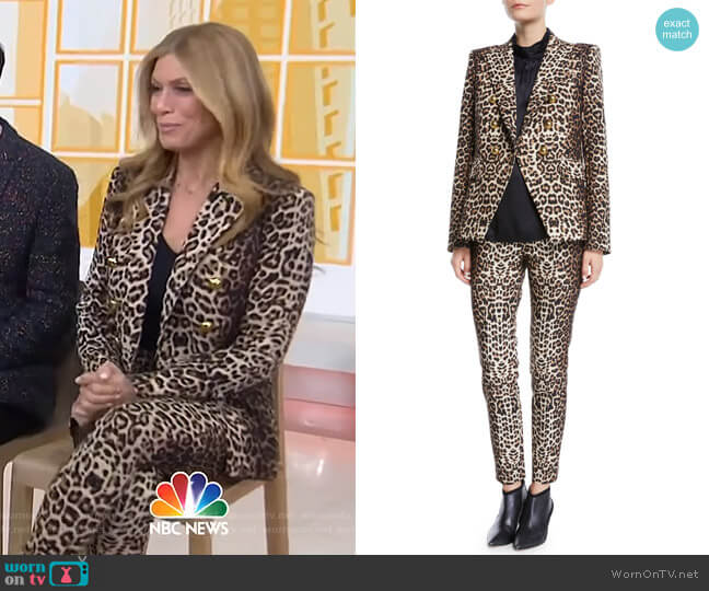 Miller Dickey Jacket and Lago Pants by Veronica Beard worn by Jill Martin  on Today