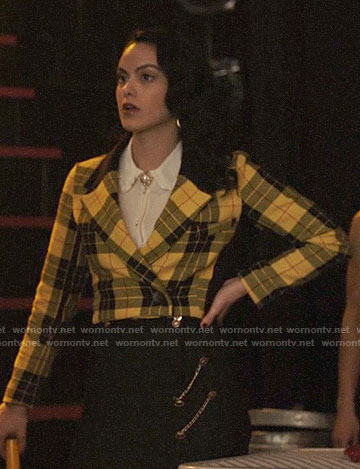 Veronica's yellow plaid jacket on Riverdale
