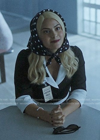 Veronica's polka dot head scarf on Riverdale