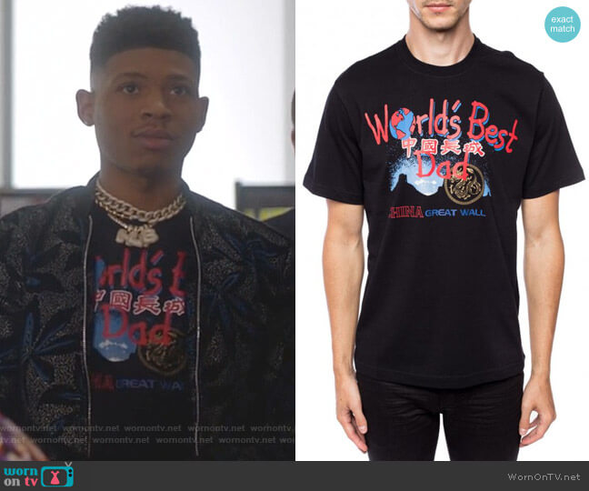 China Tourist Cotton T-shirt by Vetements worn by Hakeem Lyon (Bryshere Y. Gray) on Empire