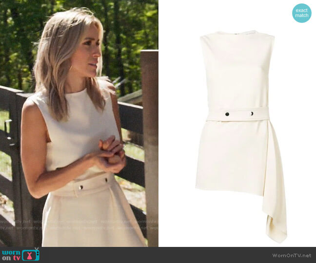 Victoria Beckham Belted Asymmetric Top worn by Kristin Cavallari  on Very Cavallari