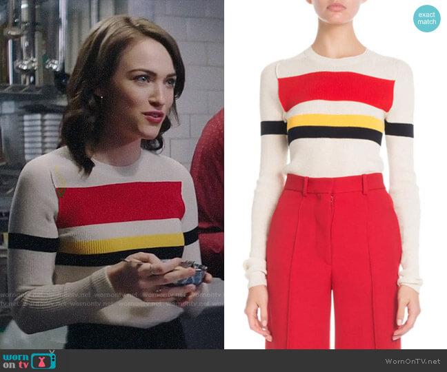 Victoria Beckham Multi-Striped Sweater worn by Cara Bloom (Violett Beane) on God Friended Me