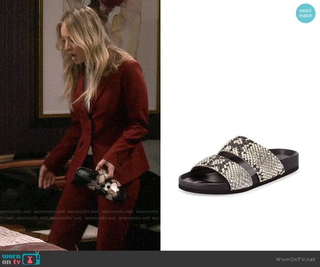 Vince Orion Slides worn by Penny Hofstadter (Kaley Cuoco) on The Big Bang Theory