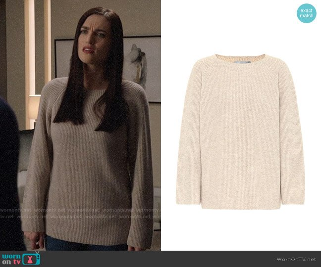 Vince Silk and Cashmere Sweater worn by Lena Luthor (Katie McGrath) on Supergirl