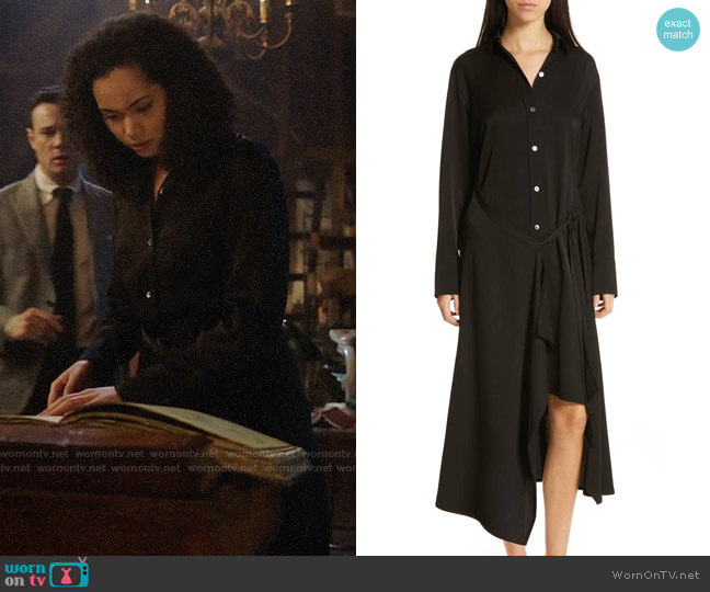 c16cebf3ecd Vince Tie Front Shirtdress worn by Macy Vaughn (Madeleine Mantock) on  Charmed