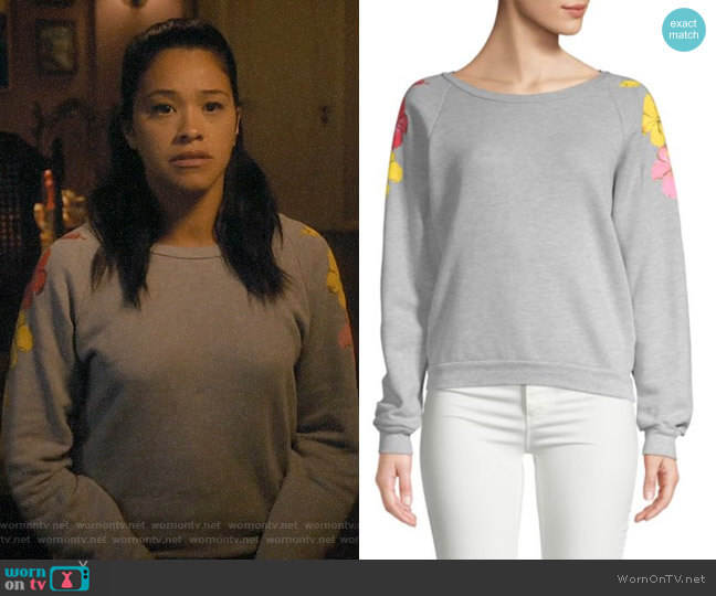 Wildfox Hibiscus Heathered Sweatshirt worn by Jane Villanueva (Gina Rodriguez) on Jane the Virgin