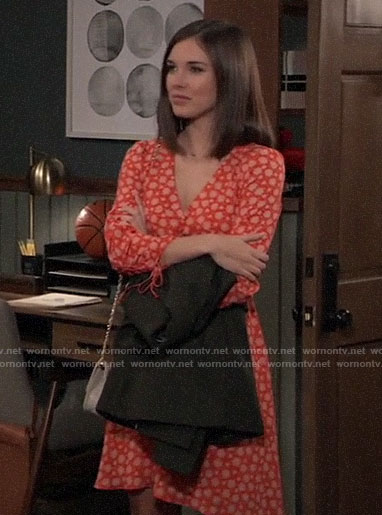 Willow's orange floral dress on General Hospital