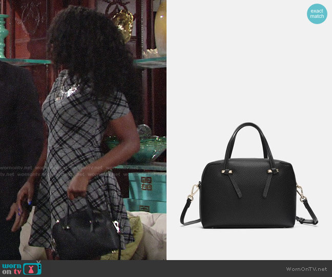 Zara Zippered Mini City Bag worn by Ana Hamilton (Loren Lott) on The Young & the Restless