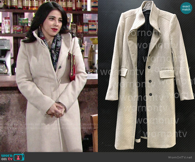 Zara Coat worn by Mia Rosales (Noemi Gonzalez) on The Young & the Restless