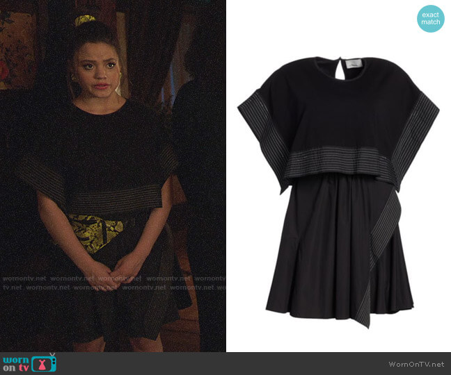 3.1 Phillip Lim Two-Piece Crop Top & Sleeveless Dress worn by Maggie Vera (Sarah Jeffery) on Charmed