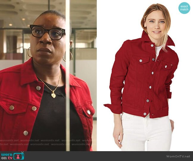 MYA Jacket by AG Adriano Goldschmied worn by Henrietta Wilson (Aisha Hinds) on 9-1-1