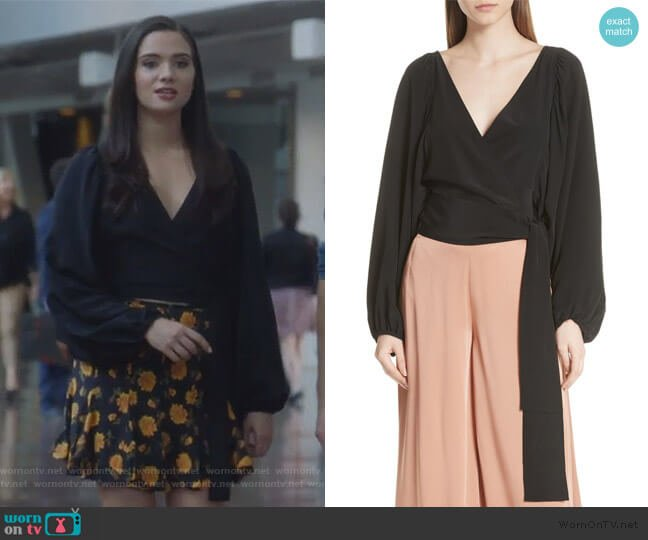 Carla Wrap Top by A.L.C. worn by Jane Sloan (Katie Stevens) on The Bold Type